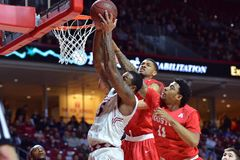 2015 la pallacanestro degli uomini del NCAA - Tempio-Houston Fotografia Stock Libera da Diritti