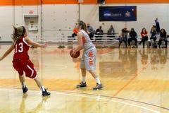 La pallacanestro delle donne del NCAA Fotografia Stock Libera da Diritti