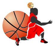La pallacanestro libera lo stile Fotografia Stock Libera da Diritti
