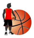 La pallacanestro libera lo stile Fotografie Stock