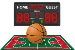 La pallacanestro mette in mostra l'illustrazione digitale di vettore del tabellone segnapunti Fotografia Stock Libera da Diritti