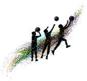 La pallacanestro profila dinamico immagini stock libere da diritti