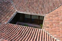la palma屋顶 免版税库存照片