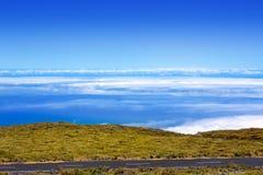 La Palma Caldera de Taburiente sea of clouds Stock Images