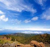 La Palma Caldera de Taburiente sea of clouds Royalty Free Stock Image