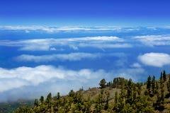 La Palma Caldera de Taburiente sea of clouds Royalty Free Stock Photos