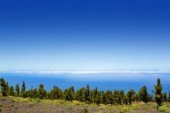 La Palma Caldera de Taburiente sea of clouds Stock Photos