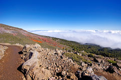 La Palma Caldera de Taburiente sea of clouds in canary Islands Royalty Free Stock Photography