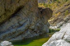 Rock wall in the gorge of fear, Barranco de las Angustias Royalty Free Stock Photos