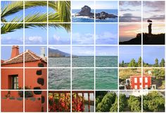 La Palma d'îles Canaries Image stock