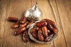 La palma datilera secada da fruto o kurma, comida (ramazan) del Ramadán