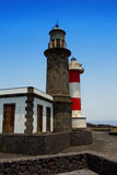 La Palma Fuencaliente lighthouse in saltworks Stock Photo