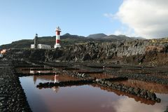 La Palma lightouse Royalty Free Stock Photography
