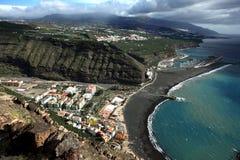 La Palma, linea costiera Tazacorte Immagine Stock Libera da Diritti