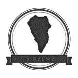 La Palma map stamp. Stock Photos