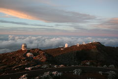 La Palma Observatory Royalty Free Stock Photo