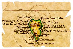 La Palma old map Stock Photos