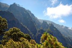 La Palma: Parco nazionale di Caldera de Taburiente Fotografia Stock
