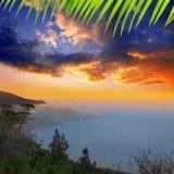 La Palma Punta Gaviota de Cuplida Fotos de archivo libres de regalías