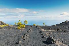La palma ruta de los vulcanos轨道海洋背景 库存照片