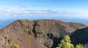 La palma ruta de los vulcanos破火山口马丁 免版税库存照片