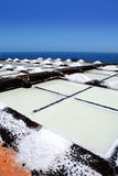 La Palma Salinas de fuencaliente saltworks Stock Photography