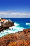 La Palma Santa cruz volcanic atlantic coast Royalty Free Stock Image
