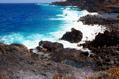 La Palma Santa cruz volcanic atlantic coast Royalty Free Stock Photo
