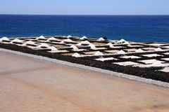 La Palma sea salt harvesting Stock Image