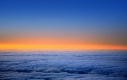 La Palma sunset over sea of clouds Caldera Taburiente Royalty Free Stock Photo