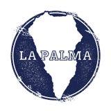 La Palma vector map. Royalty Free Stock Photo