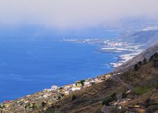 La Palma - view from Volcano San Antonio Royalty Free Stock Photos