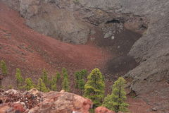 La Palma volcanic crater Royalty Free Stock Image