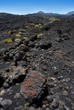 La Palma volcanic lava black stones Royalty Free Stock Photos