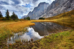 La palude è alta in montagne fotografie stock
