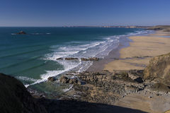 La Palue beach near Crozon Royalty Free Stock Photos