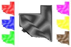 La Pampa översiktsvektor stock illustrationer