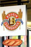 La panadería de Boudin firma adentro a San Francisco Fisherman Wharf California Foto de archivo