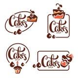 La panadería, pasteles, confitería, torta, postre, dulces hace compras, vecto ilustración del vector