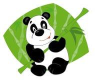 La panda guarda el bambú Foto de archivo libre de regalías