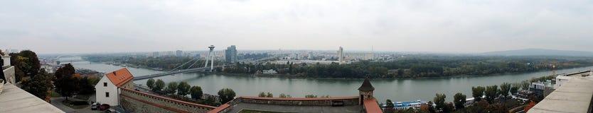 La panoramica di Bratislava Immagini Stock Libere da Diritti