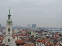 La panoramica di Bratislava Fotografia Stock