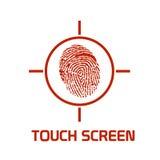 La pantalla táctil realzó símbolo Imagen de archivo libre de regalías