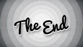La pantalla vieja del título de la animación de la película de la tipografía del final stock de ilustración