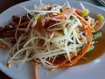 La papaia Tailandia l'alimento è popolare con la nazione Tailandia fotografie stock libere da diritti