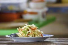La papaia Tailandia l'alimento è popolare con la nazione Tailandia immagini stock libere da diritti