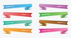 La papiroflexia de la bandera fijó la colección con la diversa sombra del color y de la pendiente - vector libre illustration