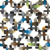 La papiroflexia entrelazada decorativa colorida wallpaper, squa abstracto Fotografía de archivo libre de regalías