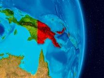 La Papouasie-Nouvelle-Guinée de l'espace photographie stock