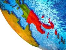 La Papouasie-Nouvelle-Guinée sur terre 3D illustration de vecteur